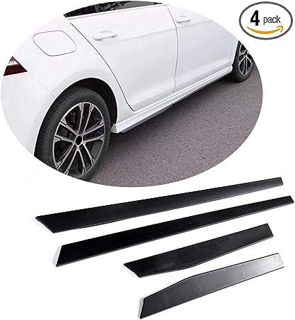"96/"" Gen 1 Black Side Skirts Extension Flat Bottom Line Lip Panel For  Audi BMW"