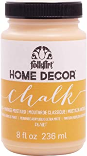 product image for FolkArt Home Decor Chalk Furniture & Craft Paint in Assorted Colors, 8 ounce, Vintage Mustard