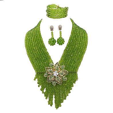 AfricanBeads 6 mm africanos disfraz joyas de boda nigeriano ...