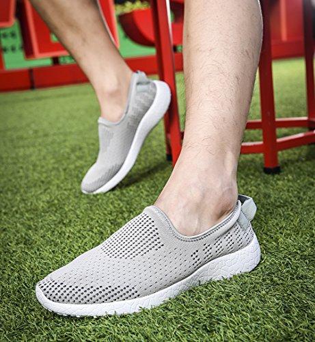 TIOSEBON Herren Leicht Leicht Gehende Schuhe Casual Athletic Comfort Laufschuhe 8255 Grau