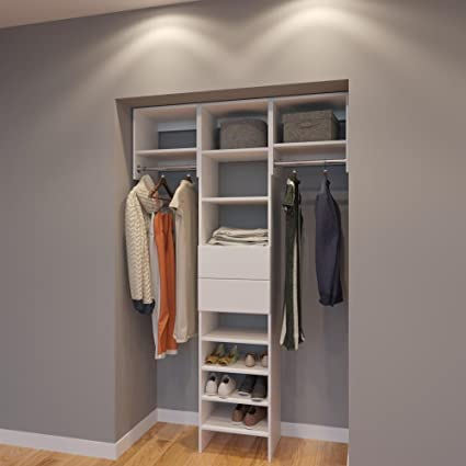 Genial Modular Closets 4.5 FT Closet Organizer System   54 Inch   Style C