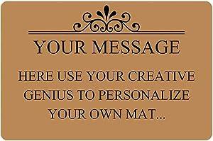ZMvise Personalized Image Doormat Custom Text Front Door Mat Welcome Indoor Outdoor Entrance Decor Rug