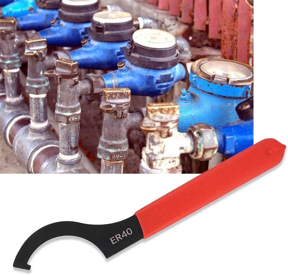 Collet Cl/é-ER40 mandrin doutils /à main Cl/é Spanner haute en acier au carbone /à la main Ecrou de serrage Cl/é