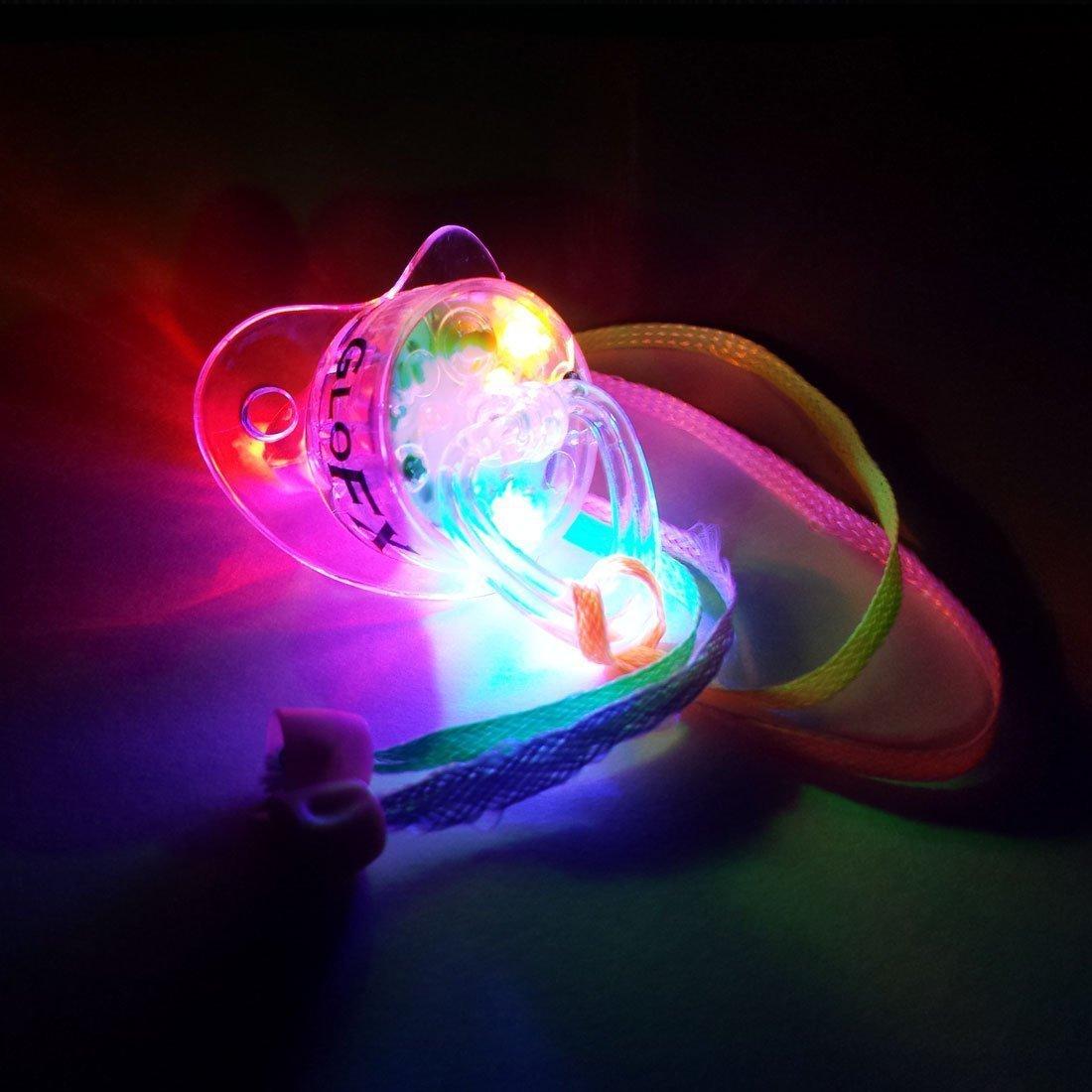Amazon.com: Chupete con luz suave hasta collar de GloX ...