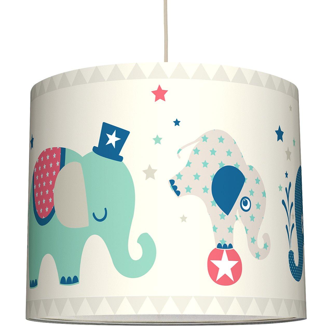 anna wand Lampenschirm ELEFANTEN BOYS - Schirm für Kinder/Baby Lampe ...