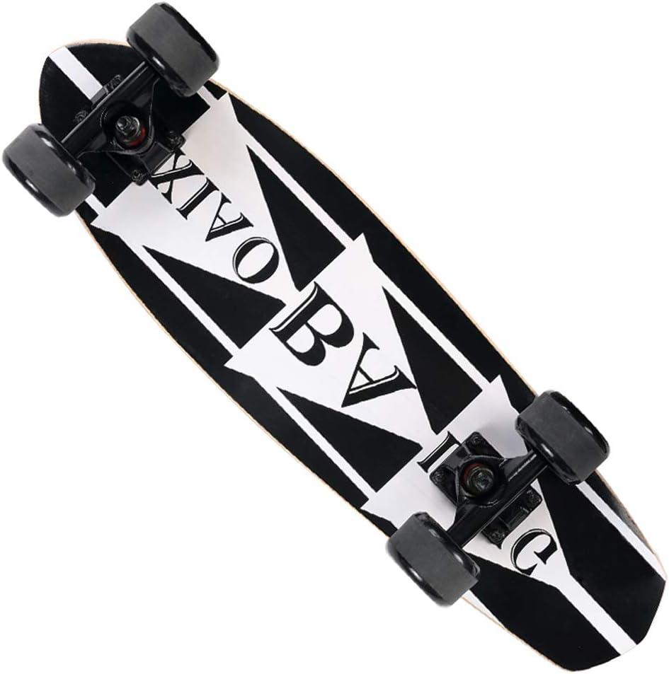 TLMYDD スクーター四輪スケートボードジュニアダブルロッカースケートボード子供大人初心者スクーター スケートボード (Color : C) C