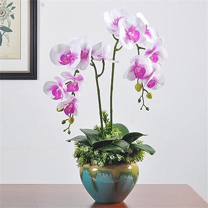 Fiori Di Ceramica.Ornamento Di Fiori Di Emulazione Di Orchidea Fiore Di
