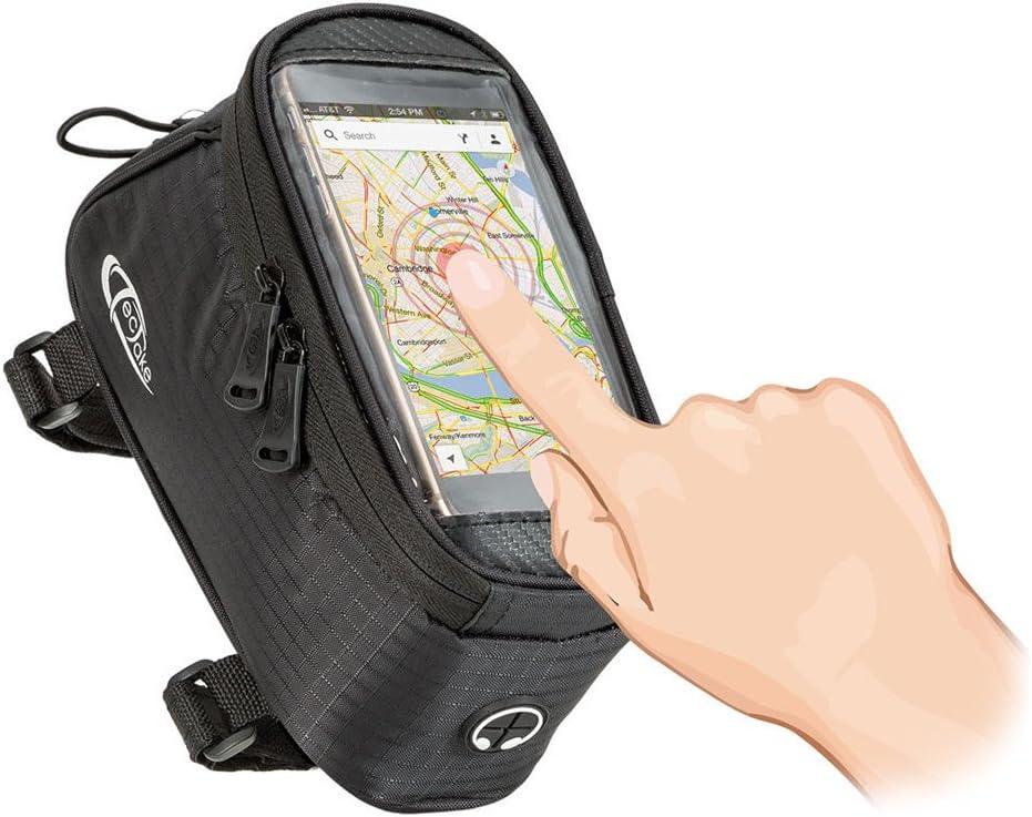 Negro VORCOOL Bolso Delantero de la Bicicleta de 5.5 Pulgadas Bolso Superior del Tel/éfono de la Pantalla T/áctil de la Bolsa