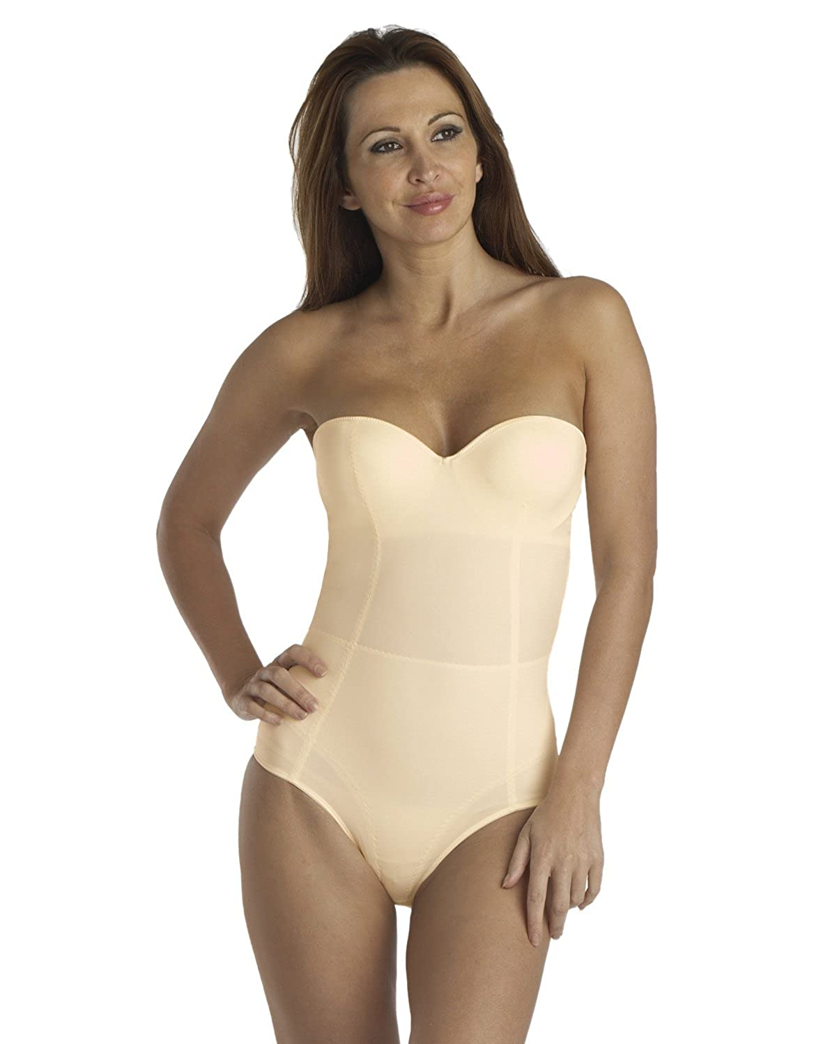 97975654cfffe info for 6b118 8e033 Dr. Rey Shapewear Womens Strapless Bodysuit at Amazon  Womens Clothing store ...