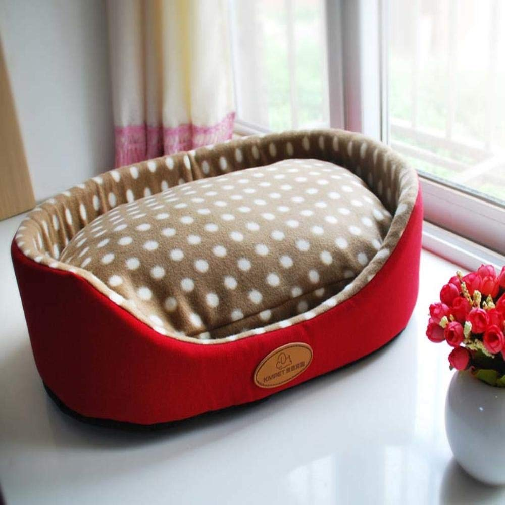 Amazon.com : Vivian Inc Beds & Furniture - New Dog Bed Thick Warm Fleece Big Size Extra Large Pet Cat Dog Bed for Small Medium Dogs Cat Puppy (Red, ...