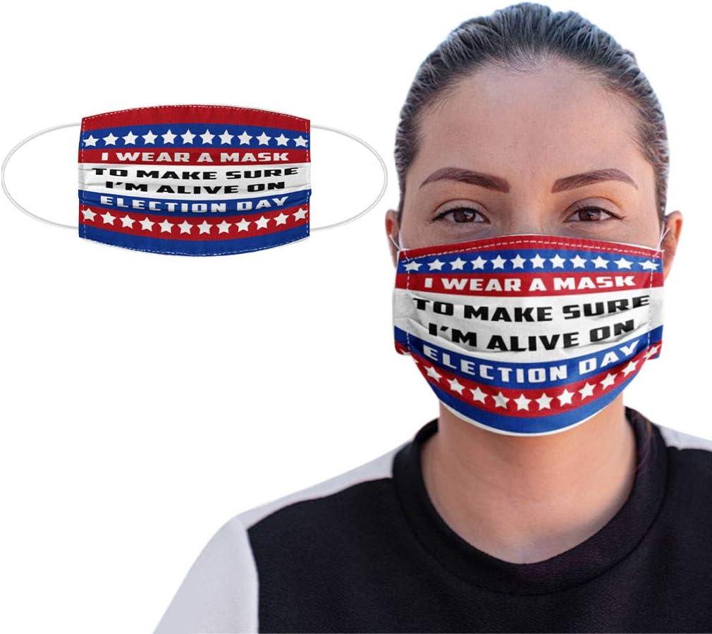 Filtro facial para adultos, transpirable, unisex, con filtración reutilizable, diseño de bandera estadounidense