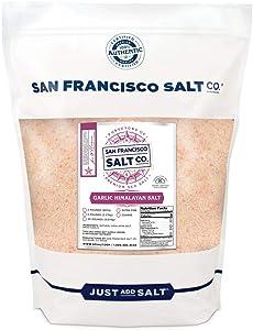 Himalayan Garlic Salt - 2 lb. Extra-Fine Bulk Bag by San Francisco Salt Company