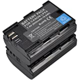 2X LP-E6 Battery for LP-E6N EOS 5D Mark 2 3 4 5D Mark II III IV 6D Mark II 6D Mark 2 5Ds R 5Ds 60D 60Da 6D 70D 7D Mark 2 7D Mark II 80D XC10 XC15