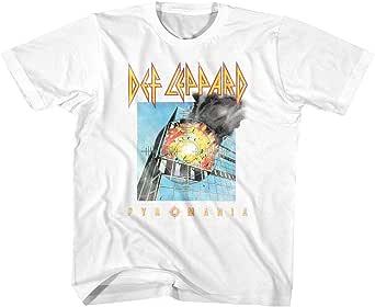 Def Leppard 1977 English Rock Band 80s Heavy Metal Pyromania Youth T-Shirt Tee
