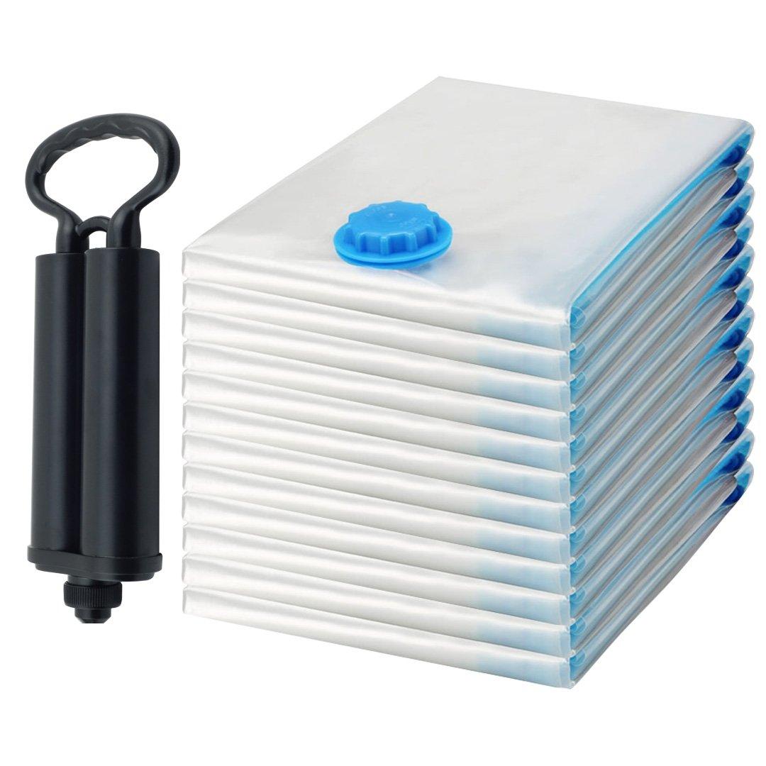 Felji Space Saver Bags Vacuum Seal Storage Bag Organizer Size Jumbo 39x47 inches 12 Pack with Free Pump