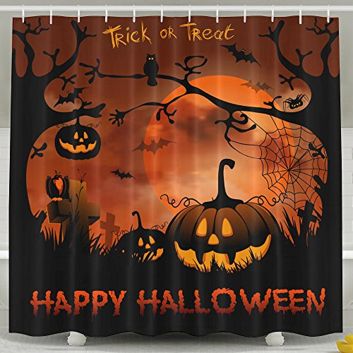 Wallpapers Desktop Pictures Backgrounds 8 Scary Halloween Wallpapers Mildew Resistant Polyester Fabric Bathroom Fantastic Decorations Bath Curtains Hooks Included 72 x 72 (Happy Halloween Wallpapers Desktop)