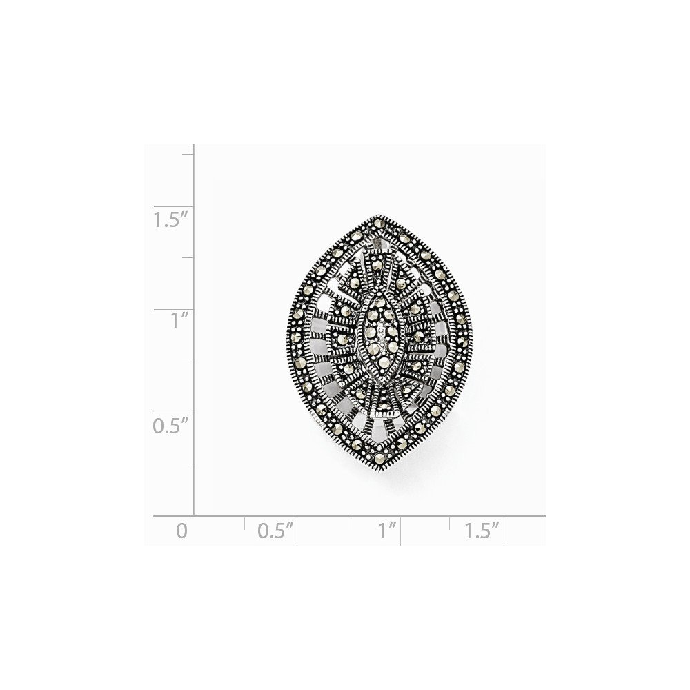 Pendants Accessories and Fashion Charms .925 Sterling Silver Marcasite Pendant