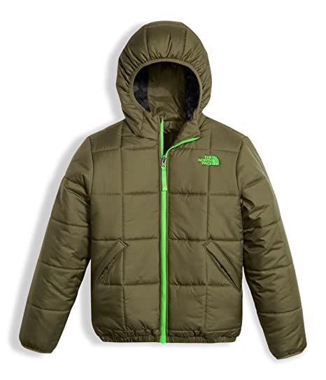 3521100c0b50 The North Face Boy s Reversible Perrito Jacket - Burnt Olive Green - S  (Past Season