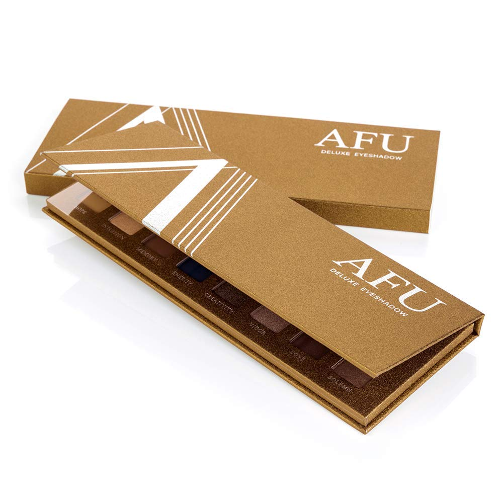 AFU High Pigmented Eyeshadow Palette Matte + Shimmer 16 Colors Makeup Natural Bronze Neutral Smokey Blendable Waterproof Eye Shadows Cosmetic - E-11 by AFU (Image #7)