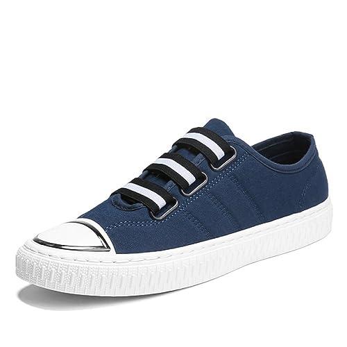 Zapatillas de Lona para Hombre Mujer Estilo Casual y Deportivo (Azul,39)