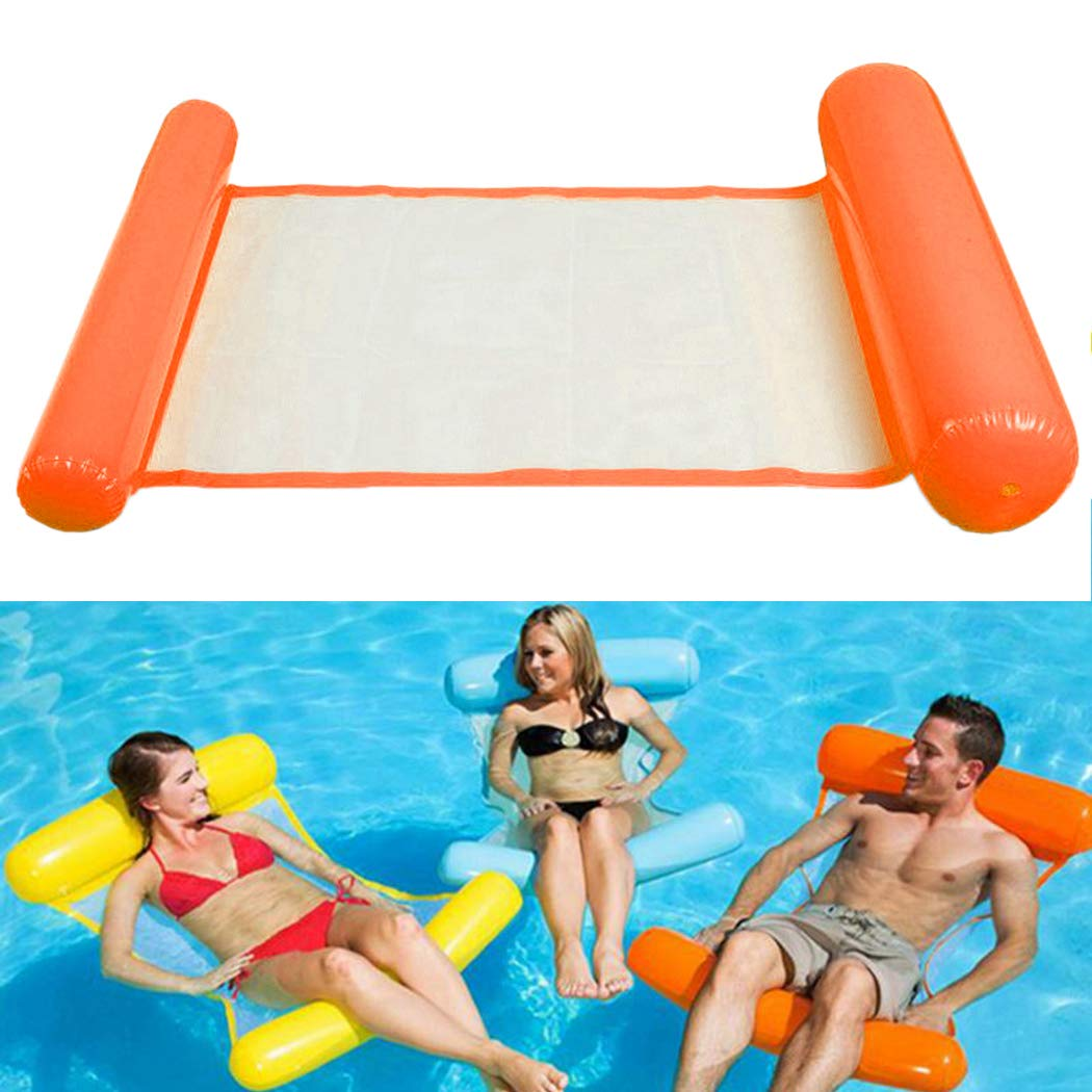 Fansport Water Floating Bed Water Floating Row Aufblasbare Wasser H/äNgematte Float Liege