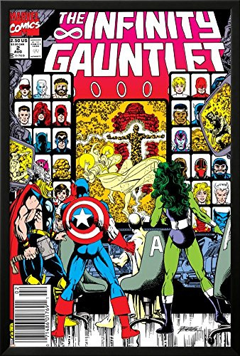 Infinity Gauntlet No.2 Cover: Captain America, Thor and She-Hulk Lamina Framed Poster - 37.75 x 25.75in