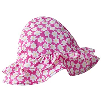 1559b9ed48530 Image Unavailable. Image not available for. Color  Baby Girl Jersy Knit Ruffled  Sun Hat (Toddler 3T