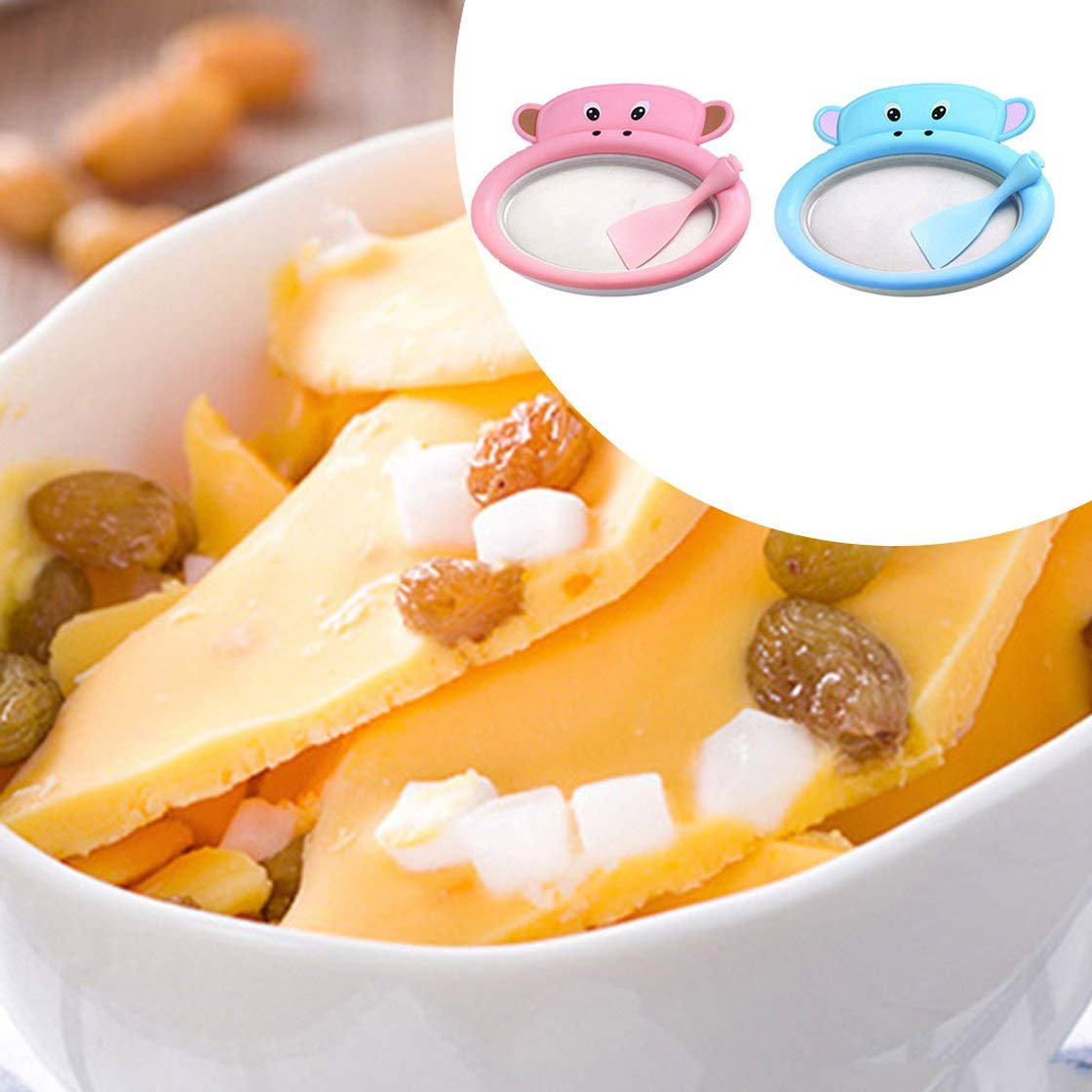 Instant Fried Ice Cube Maker Machine DIY Yogurt Pan Homemade Children Mini Fast Freeze Ice Cream Roll Making Tool