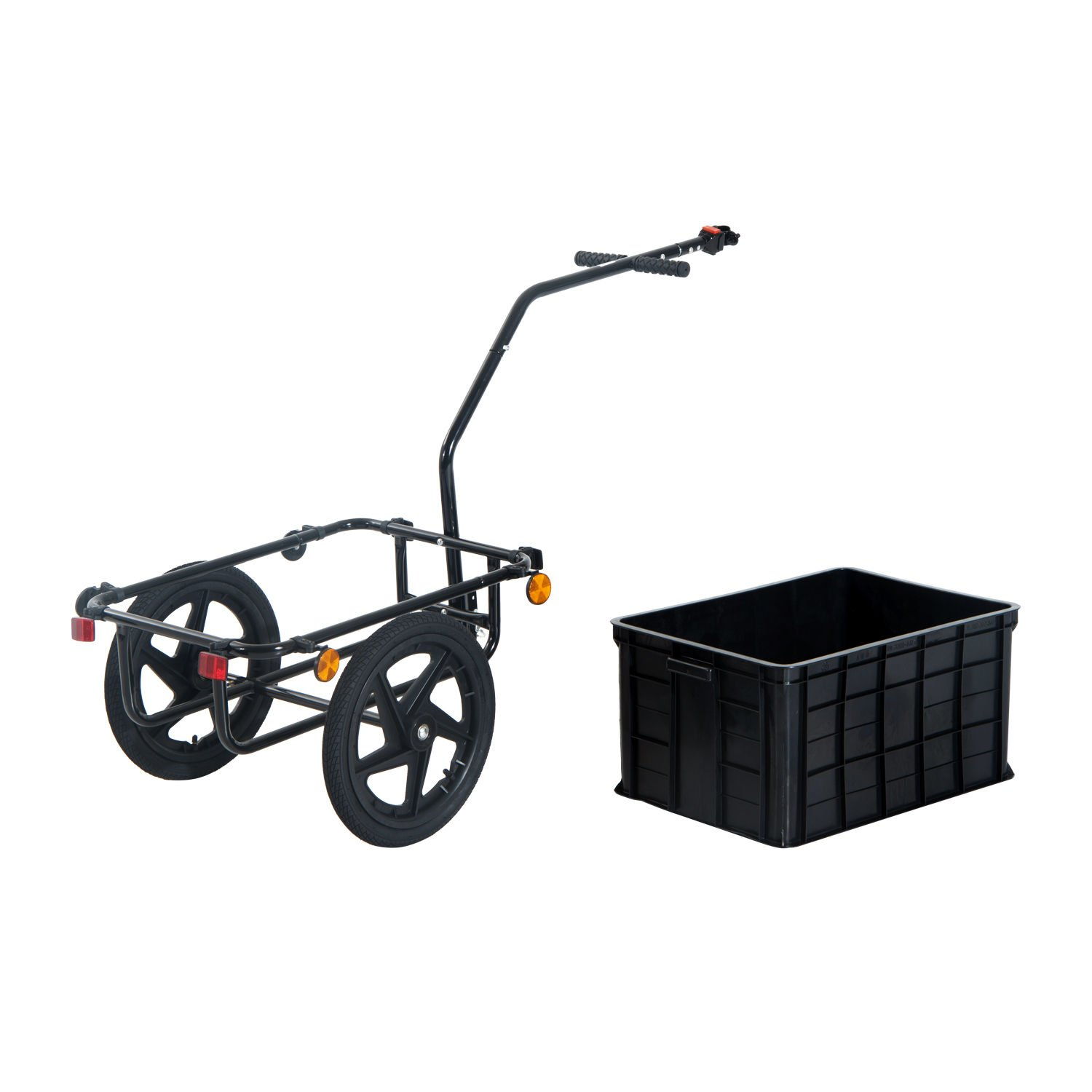 Aosom Enclosed Bicycle Cargo Trailer - Black by Aosom (Image #3)