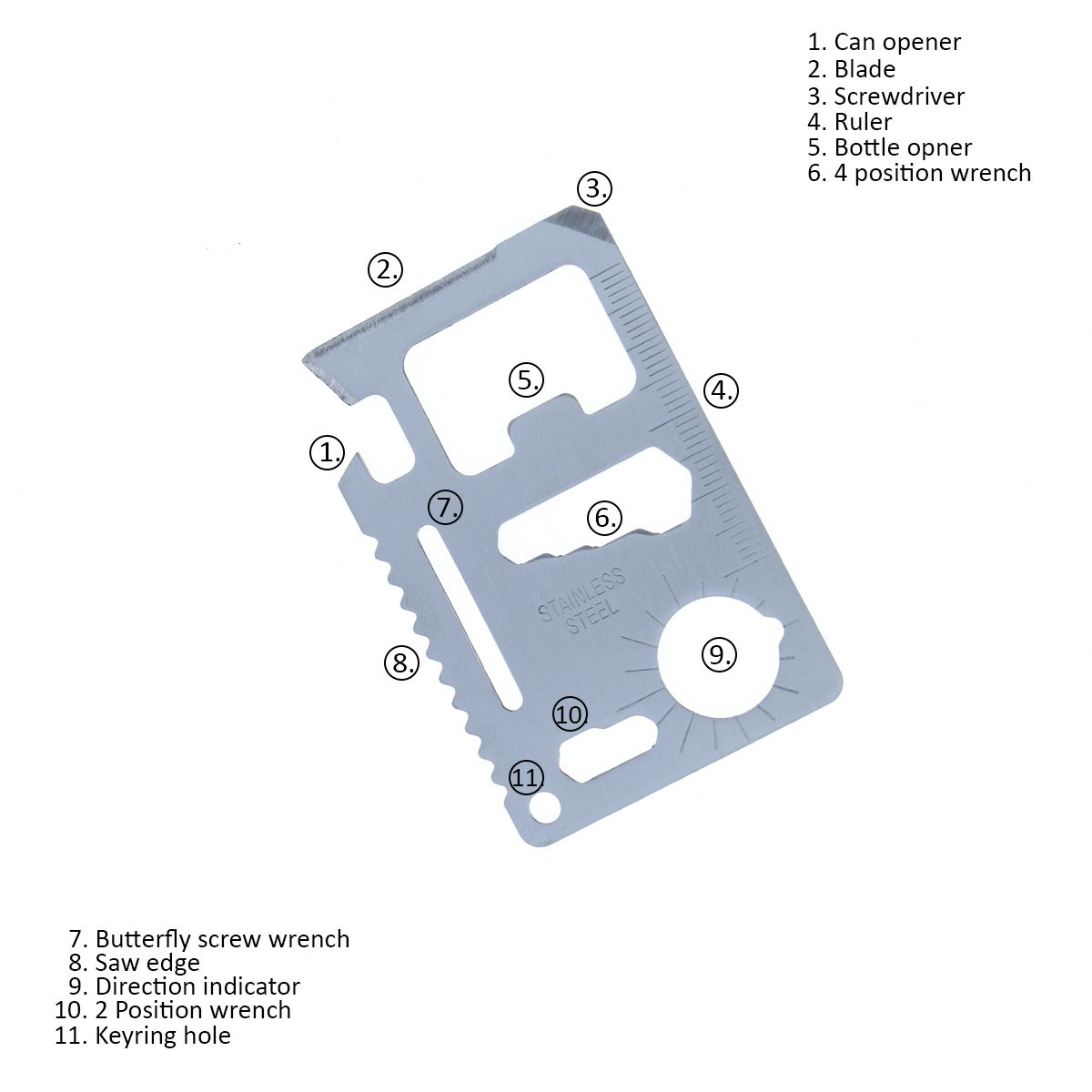 Electropolis Cuchillo de Caza Muela AGARRE-24R pu/ño de Madera Rosewood Hoja de 24,5 cm Defensa en Acero Inoxidable Tarjeta Multiusos de Regalo