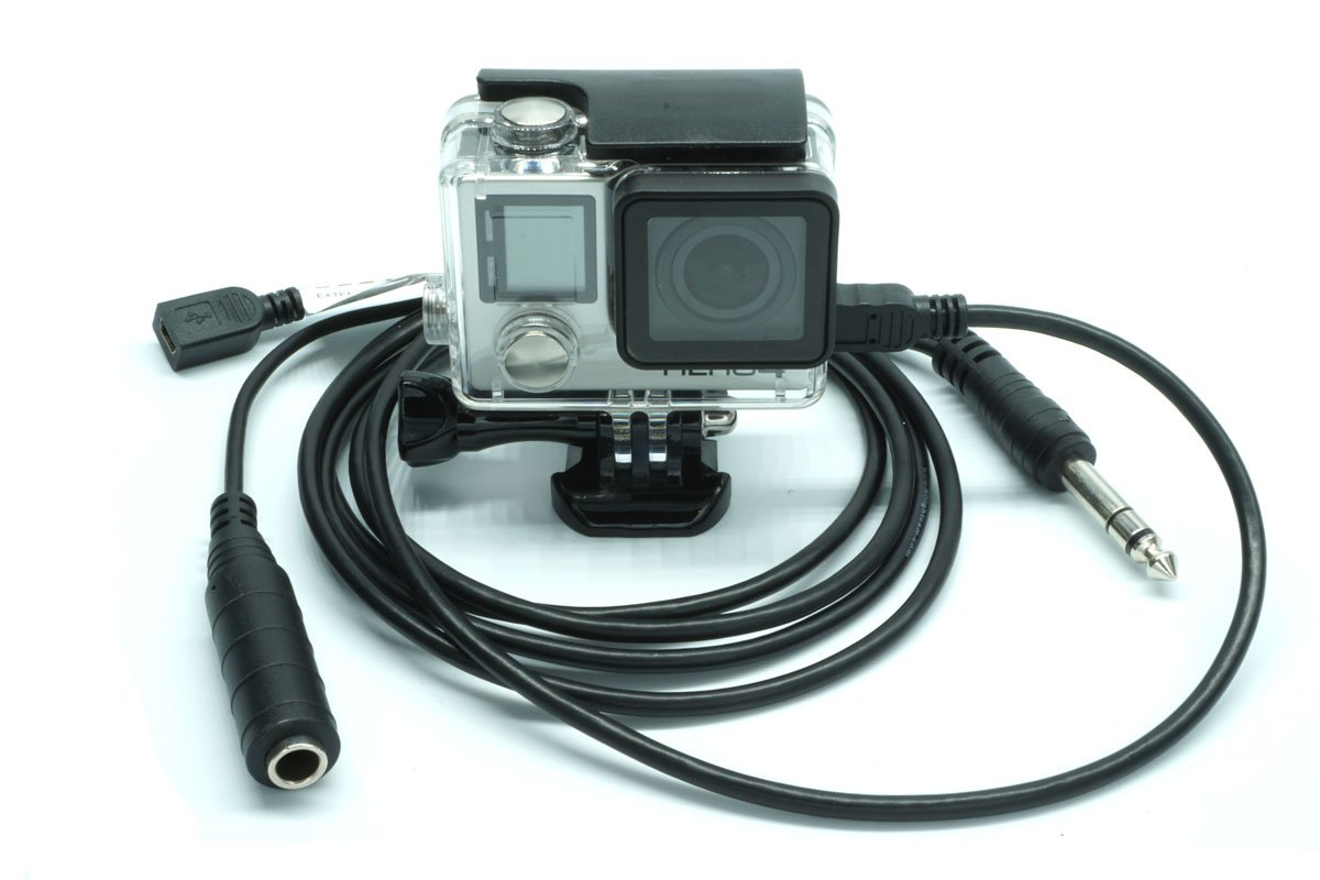Nflightcam Aircraft Audio/Power Cable for GoPro Hero by Nflight Technology LLC
