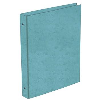 Carpeta Archivador PRAXTON Cartón Forrado Brillo Celeste, Folio 4 Anillas 25 mm.: Amazon.es: Oficina y papelería