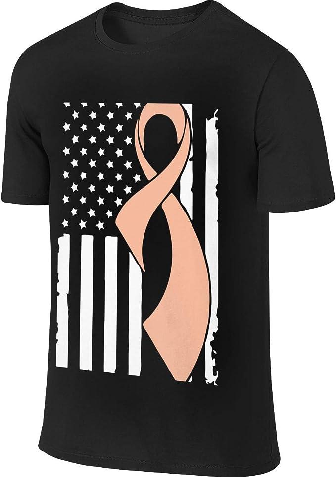 Uterine Bandera de concienciación sobre el cáncer, Camiseta ...