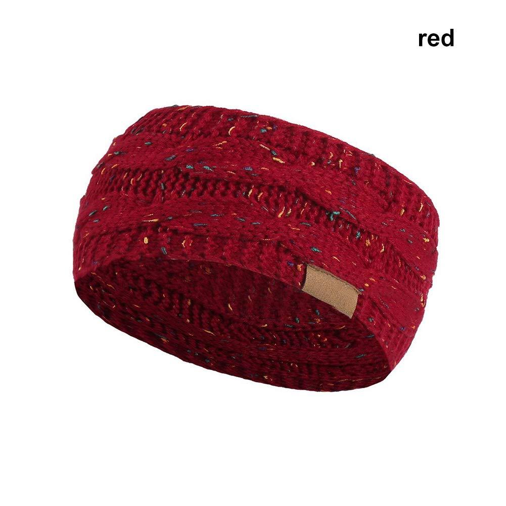 Rokoo Mujeres Invierno Cálido Beanie Diadema Esquí de Punto Cap Ear Warmer Headbands