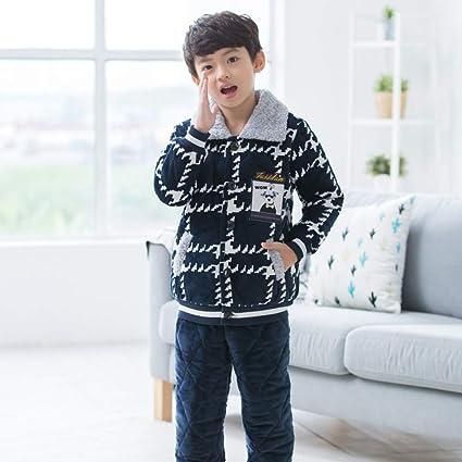 OPPP Pijamas de niños Pijamas para niños Engrosamiento niño ...