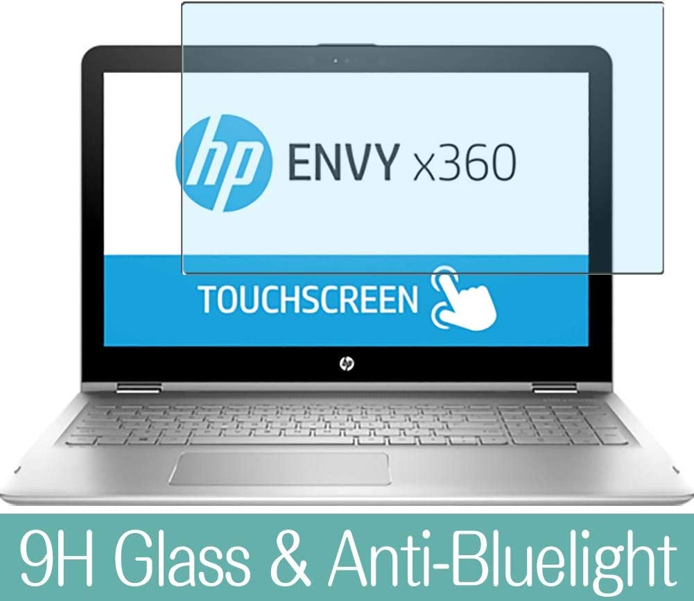 "Synvy Anti Blue Light Tempered Glass Screen Protector for HP Envy x360 15-aq200 / aq293ms / aq292cl / aq273cl / aq267cl 15.6"" Visible Area 9H Protective Screen Film Protectors"