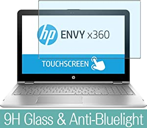 """Synvy Anti Blue Light Tempered Glass Screen Protector for HP Envy x360 15-aq200 / aq293ms / aq292cl / aq273cl / aq267cl 15.6"""" Visible Area 9H Protective Screen Film Protectors"""