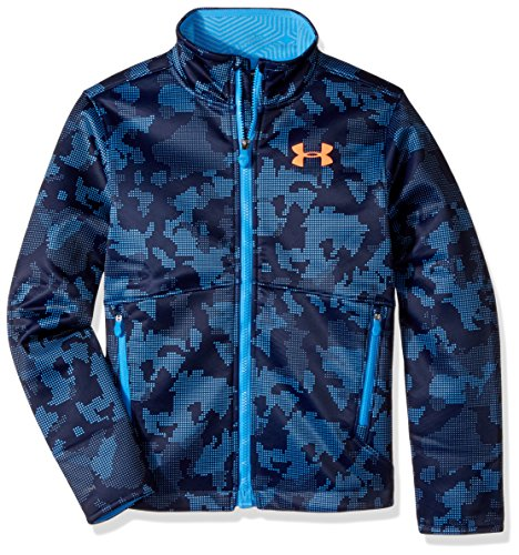 Under Armour Outerwear Youth Boys Storm Softer Shell Jacket, Midnight Navy/Magma Orange, X-Small