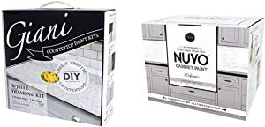 Giani™ Countertop Paint Kit, White Diamond & Nuvo Driftwood 1 Day Cabinet Makeover Kit