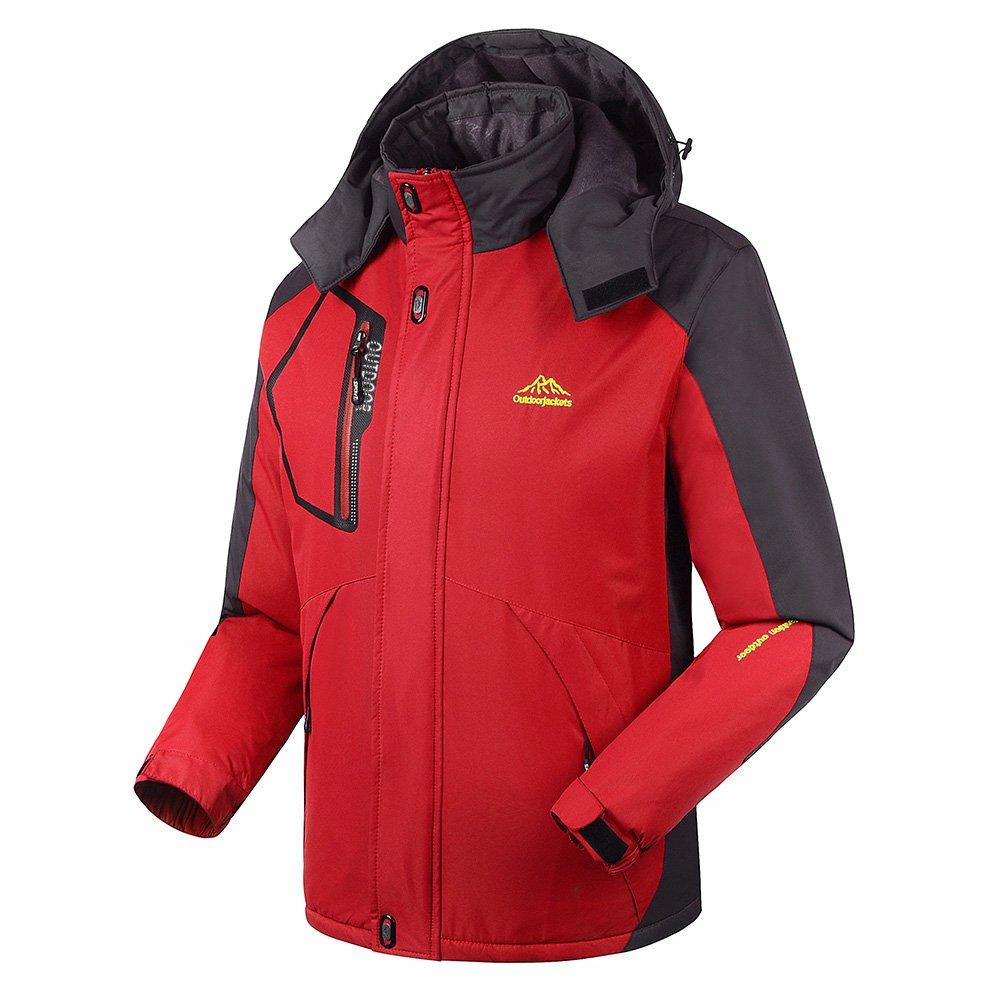 Lixada Men's Windproof Mountain Jacket Fleece Jacket Winter Outdoor t Coat Sport Waterproof Ski Jacke Camping Hiking Running