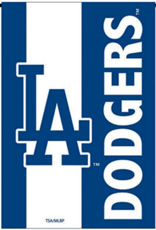 Dodgers Embellished Premium 2-Sided Garden Flag Applique Embroidered Outdoor House Banner Baseball