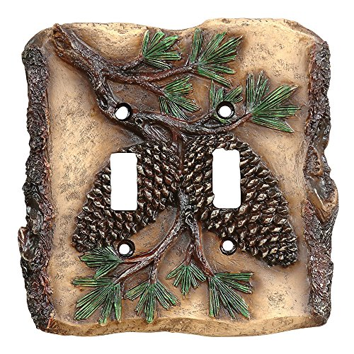 - Pinecone Cabin Double Switch Plate