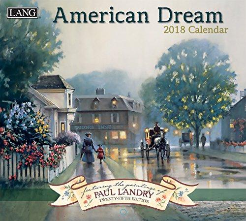 "LANG - 2018 Wall Calendar - ""American Dream"", Artwork By Paul Landry - 12 Month - Open 13 3/8"" X 24"""