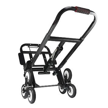 Carretilla de Carga para Escaleras, Carretilla de Transporte Plegable con Cuerda y Gancho Fijos, Carga Máxima 200 KG