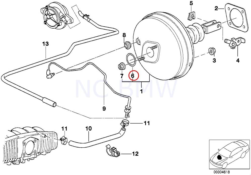 BMW Genuine Brake Master Cylinder O-Ring