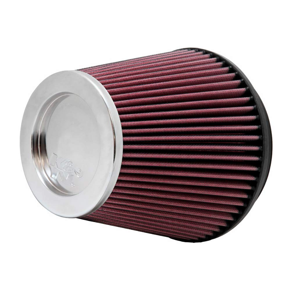 K&N RF-1043 Universal Clamp-On Air Filter: Round Tapered; 6 in (152 mm) Flange ID; 6 in (152 mm) Height; 7.5 in (191 mm) Base; 5 in (127 mm) Top by K&N