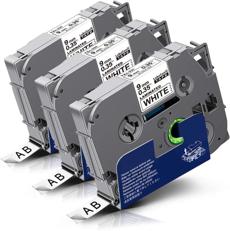 320 5x SCHRIFTBAND KASSETTE 12mm für BROTHER TZ-231 P-Touch 310 330 310B