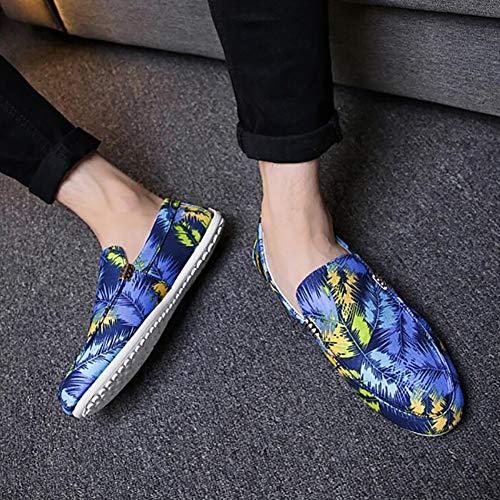 Blue Planos Mocasines Zapatos Transpirables Casuales Vestido Guisantes Yuan De OBq84g