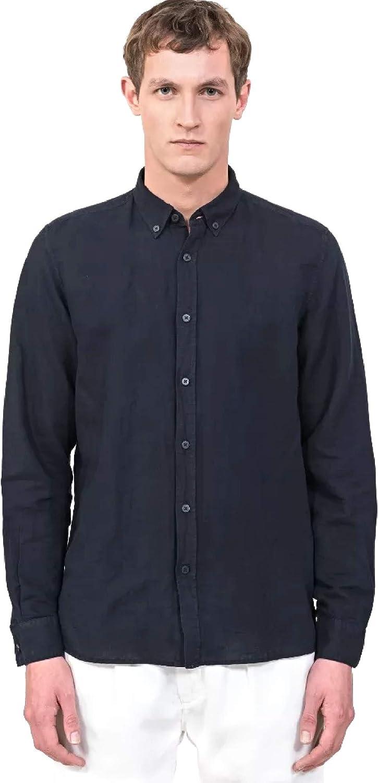 Antony Morato MMSL00530 FA400051 Camisa Hombre Azul 48: Amazon.es: Ropa y accesorios