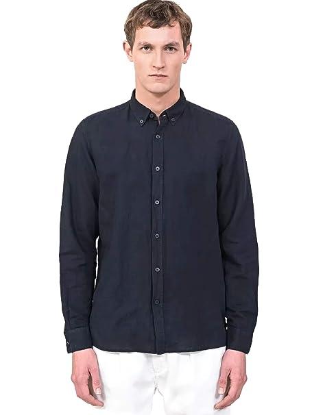 Antony Morato MMSL00530 FA400051 Camisa Hombre Azul 54: Amazon.es ...